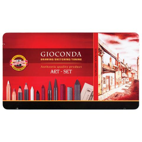 Набор художественный KOH-I-NOOR «Gioconda», 39 предметов, металлическая коробка