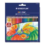 Карандаши цветные STAEDTLER (Германия) «Noris club», 24 цвета, заточенные, европодвес