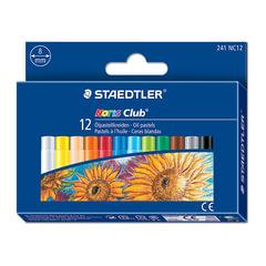 Пастель масляная художественная STAEDTLER (Германия) «Noris club», 12 цветов, круглое сечение