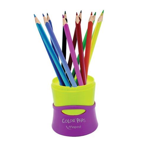 Карандаши цветные MAPED (Франция) «Color Pep's», 12 цветов, трехгранные, в растягивающемся тубусе
