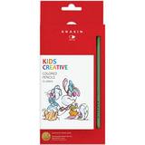 Карандаши цветные КРАСИН «Веселый кролик», 12 цв., заточенные, 177 мм