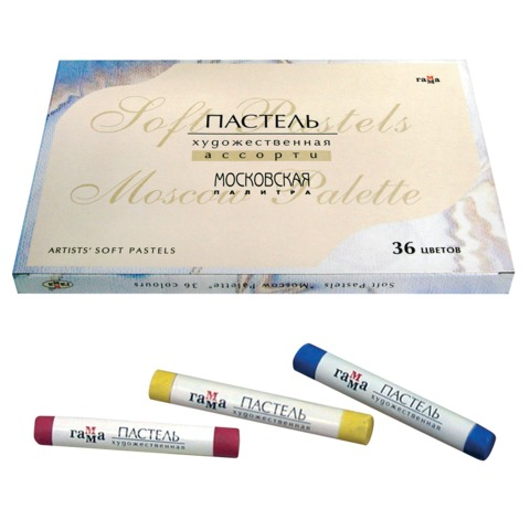 Пастель художественная ГАММА «Московская палитра», сухая, 36 цветов