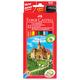 Карандаши цветные FABER-CASTELL «ECO Замок», 12 цв., с точилкой, картонная упаковка с европодвесом