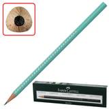 Карандаш чернографитный FABER-CASTELL, 1 шт., «Sparkle Pastel», B, трехгранный, корпус бирюзовый с блестками, без ластика