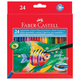 ��������� ������� ����������� FABER-CASTELL «Colour Pencils», 24 �����, � ���������, ��������� ��������
