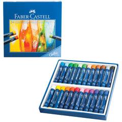 Пастель масляная художественная FABER-CASTELL «Studio quality», 24 цвета, круглое сечение
