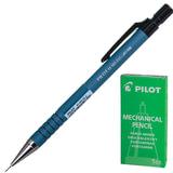 Карандаш механический PILOT Н-165, корпус синий, прорезиненный, 0,5 мм, ластик
