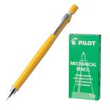 Карандаш механический PILOT Н-323, профессиональный, 0,3 мм, корпус желтый, цанговый зажим, с клипом, ластик