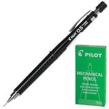 Карандаш механический PILOT Н-325, профессиональный, 0,5 мм, корпус черный, цанговый зажим, с клипом, ластик