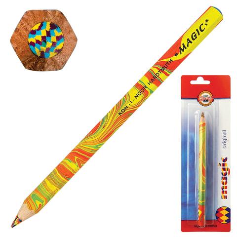 "Карандаш с многоцветным грифелем KOH-I-NOOR, 1шт., Magic ""Original"", 5,6 мм, блистер"