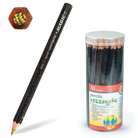 Карандаш с многоцветным грифелем KOH-I-NOOR, 1 шт., Magic «Neon», грифель 5,6 мм, заточенный