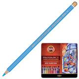 Карандаши цветные художественные KOH-I-NOOR «Polycolor», 24 цвета, грифель 3,8 мм, заточенные, металлическая коробка