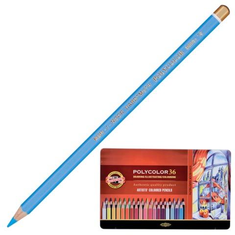 """Карандаши цветные художественные KOH-I-NOOR """"Polycolor"""", 36 цветов, 3,8 мм, металлическая коробка"""