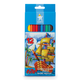 Карандаши цветные KOH-I-NOOR, 12 цв., грифель 2,8 мм, особо гибкие, заточенные, картонная упаковка с европодвесом