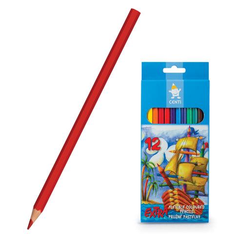 Карандаши цветные KOH-I-NOOR, 12 цв., грифель 2,8 мм, пластиковые, заточенные, картонная упаковка с европодвесом