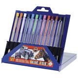 Карандаши цветные KOH-I-NOOR, 12 цв., грифель 3,2 мм, выдвижной пластиковый корпус, точилка, пластиковая коробка
