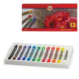 Пастель художественная KOH-I-NOOR «Toison D'or», 12 цветов, сухая, круглое сечение, картонная коробка