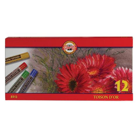 """Пастель сухая художественная KOH-I-NOOR """"Toison D'or"""", 12 цветов, круглое сечение"""