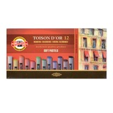 Пастель художественная KOH-I-NOOR «Toison D'or», 12 цветов, мягкая, круглое сечение, картонная коробка