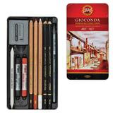 Набор художественный KOH-I-NOOR «Gioconda», 10 предметов, металлическая коробка