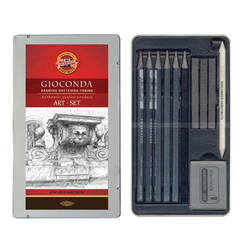 Набор художественный KOH-I-NOOR «Gioconda», 11 предметов, металлическая коробка