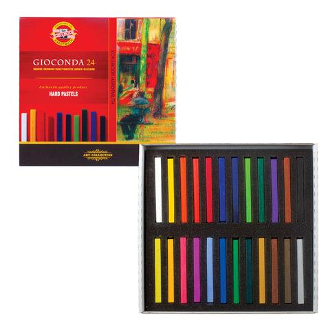 Пастель художественная KOH-I-NOOR «Gioconda», 24 цвета, сухая, квадратное сечение, картонная коробка