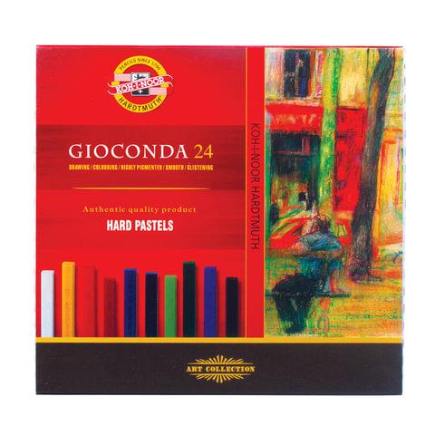 """Пастель сухая художественная KOH-I-NOOR """"Gioconda"""", 24 цвета, квадратное сечение"""