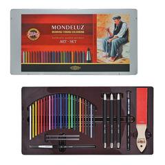 Набор художественный KOH-I-NOOR «Mondeluz», 32 предмета, металлическая коробка