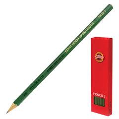 Карандаш чернографитный KOH-I-NOOR, 1 шт., «Alpha», H, без резинки, корпус зеленый, заточенный