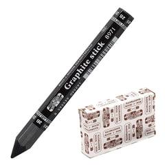 Карандаш чернографитный утолщенный KOH-I-NOOR, 1 шт., «Graphite stick», без дерева, 2B, грифель 10,5 мм, картонная упаковка