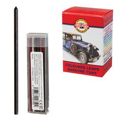 Грифели цветные запасные KOH-I-NOOR, НАБОР 12 штук, для механических карандашей 4012/<wbr/>12