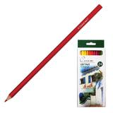 Карандаши цветные профессиональные «Сонет», 24 цвета, в картонной упаковке с европодвесом