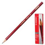 Карандаш чернографитный STABILO «Swano», HB, корпус красный, без ластика, заточенный