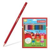 Карандаши цветные STABILO «Color», 24 цвета, грифель 2,5 мм, заточенные, картонный футляр