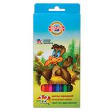 Карандаши цветные KOH-I-NOOR «Birds»,12 цветов, грифель 2,8 мм, заточенные, картонная упаковка с европодвесом