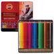 Карандаши цветные акварельные художественные KOH-I-NOOR «Mondeluz», 24 цвета, 3,8 мм, заточенные, металлическая коробка