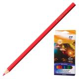 Карандаши цветные KOH-I-NOOR «Космическая одиссея», 24 цвета, грифель 3 мм, заточенные, картонная упаковка с европодвесом