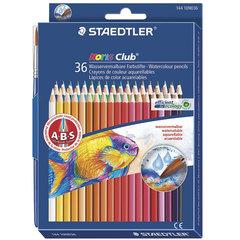 Карандаши цветные акварельные STAEDTLER (Германия) «Noris club», 36 цветов + кисть, европодвес