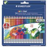 Карандаши цветные с резинкой STAEDTLER (Германия) «Noris club», 24 цвета, заточенные, подвес
