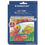 Карандаши цветные STAEDTLER (Германия) «Noris club», 36 цветов, заточенные, европодвес