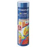 Карандаши цветные STAEDTLER (Германия) «Noris club», 24 цвета, заточенные, металлический тубус