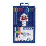Карандаши цветные премиум, STAEDTLER (Штедлер, Германия) «Ergosoft», 12 цветов, трехгранные, пластиковый футляр