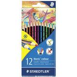 Карандаши цветные STAEDTLER (Германия) «Noris Color Ecology», 12 цветов, заточенные, европодвес