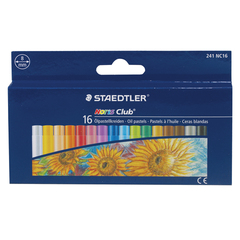 Пастель масляная художественная STAEDTLER (Германия) «Noris club», 16 цветов, круглое сечение