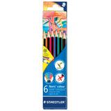 Карандаши цветные STAEDTLER (Германия) «Noris Color Ecology», 6 цветов, заточенные, европодвес