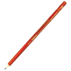 Карандаш чернографитный BRAUBERG, 1 шт., «Orient», HB, круглый, оранжевый, без резинки