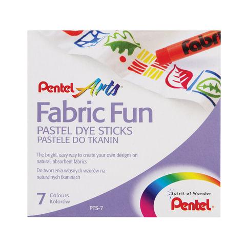 """Пастель для ткани PENTEL """"Fabric Fun"""", 7 цветов, картонная упаковка"""