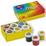 Гуашь художественная СПЕКТР «Радуга», 6 цветов, 240 г