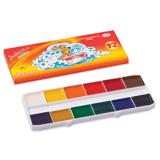 Краски акварельные ГАММА «Мультики», 12 цветов, медовые, картонная коробка, без кисти