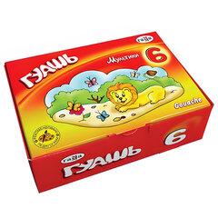 Гуашь ГАММА «Мультики», 6 цветов по 20 мл, без кисти, картонная упаковка